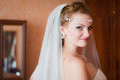 Young bride the and beautiful is happy with the appearance Royalty Free Stock Photography