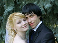 Young bride and groom Royalty Free Stock Photo