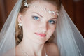 Young bride portrait of the and beautiful close up Royalty Free Stock Photo