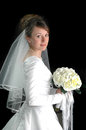 Young Bride Portrait on Black Royalty Free Stock Image