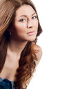 Young brown hair woman beauty Royalty Free Stock Photo