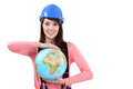 Young brunette craftswoman Royalty Free Stock Photo