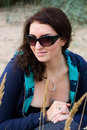 Young brunette in sunglasses Royalty Free Stock Image