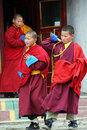 Young buddhist monk in ulan bator in mongolia Royalty Free Stock Photos