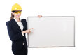 Young builder woman Royalty Free Stock Photo