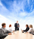 A young business group is working on a project Stock Image