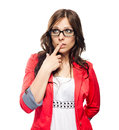Young business lady in glasses Stock Photo