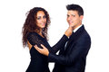 Young Business Loving Couple Royalty Free Stock Photos