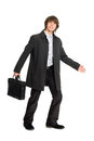 Young business man in a raincoat Royalty Free Stock Photo