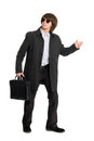 Young business man in sunglasses Royalty Free Stock Photo