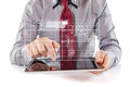 Young business man using a digital pc tablet executive Royalty Free Stock Photos