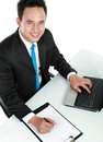 Young business man working Stock Image