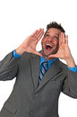 Man Yelling or Shouting Royalty Free Stock Photo