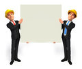 Young business men sign d rendered illustration of with Stock Photos