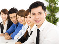 Young business people working together at  meeting Royalty Free Stock Photo