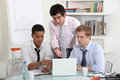 Young business professionals working project together Stock Photography