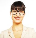 Young business woman with glasses cute Stock Images
