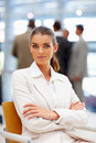 Young business woman with her hands folded Royalty Free Stock Photo