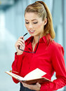 Young business woman in an office Royalty Free Stock Photos