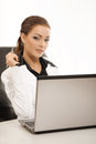 Young business woman working in the office Royalty Free Stock Photos