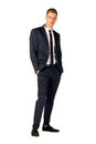 Young businessman full length portrait Royalty Free Stock Photo