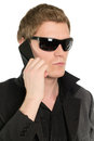 Young businessman with a phone Royalty Free Stock Photo
