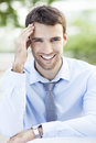 Young businessman smiling portrait of business man Royalty Free Stock Image
