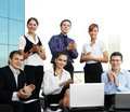 Young businesspeople are celebrating their success Stock Image