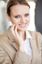 Young businesswoman closeup Royalty Free Stock Photos
