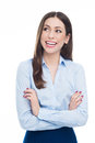 Young businesswoman smiling beautiful woman over white background Stock Photos