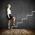 Young businesswoman taking the first step in career Royalty Free Stock Photo