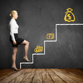 Young businesswoman taking the first step in getting higher salarys Royalty Free Stock Photo