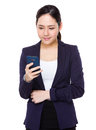 Young Businesswoman use of the cellphone
