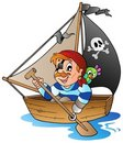 Young cartoon pirate 1 Stock Photo