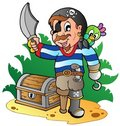 Young cartoon pirate 2 Royalty Free Stock Photos