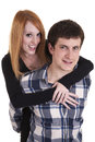 Young casual couple Royalty Free Stock Image