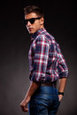 Young casual man with shades Royalty Free Stock Photo
