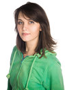 Young casual woman style portrait image has attached release Royalty Free Stock Images