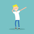 Young character making DAB dance
