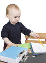 Young child at writing desk Royalty Free Stock Photography