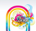 Young color vector design Stock Images