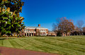 Young commons quad and speakers corner at elon university in elon north carolina decicated in Royalty Free Stock Photo