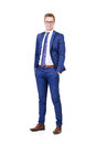 Young and confident business man isolated on white Royalty Free Stock Photo