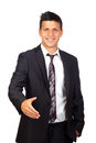 Young Confident young business man  shaking hands Royalty Free Stock Photos