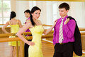 Young couple in the ballroom Royalty Free Stock Image