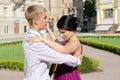 stock image of  Young couple ballroom dancing