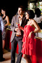 Young couple in bar having fun Royalty Free Stock Images