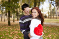 Young couple celebrating Valentine Day Stock Photo