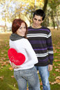 Young couple celebrating Valentine Day Royalty Free Stock Photos