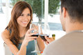 Young Couple Drinking Wine Stock Image